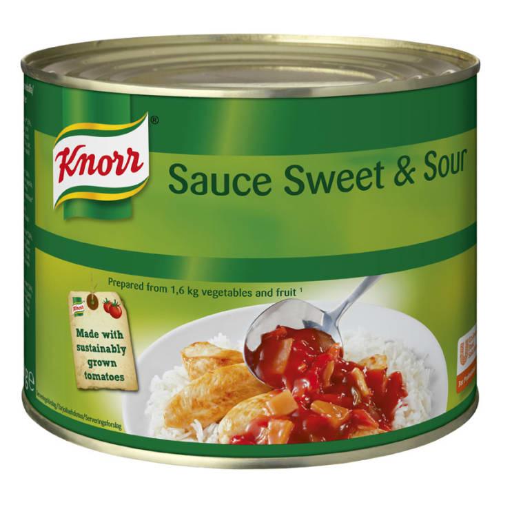 Bilde av Sweet & Sour Sauce grønnsakskonserver 2kg Knorr
