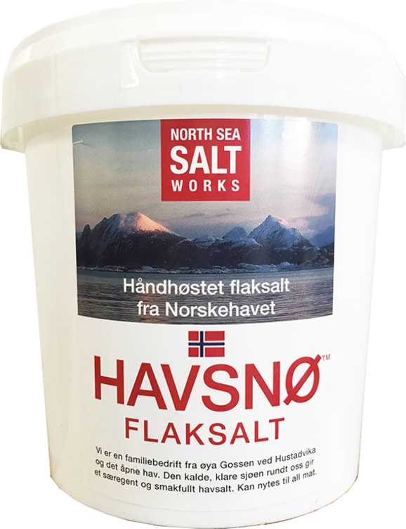 Bilde nr. 1 av 2 - FLAKSALT AV HAVSALT 750G HAVSNØ