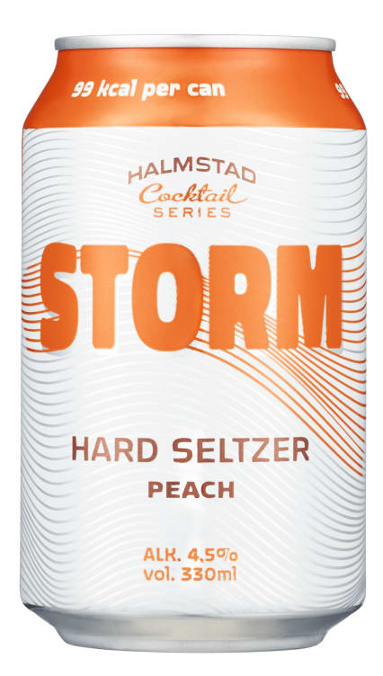 Bilde av STORM HARD SELTZER WHITE PEACH 0,33L BX