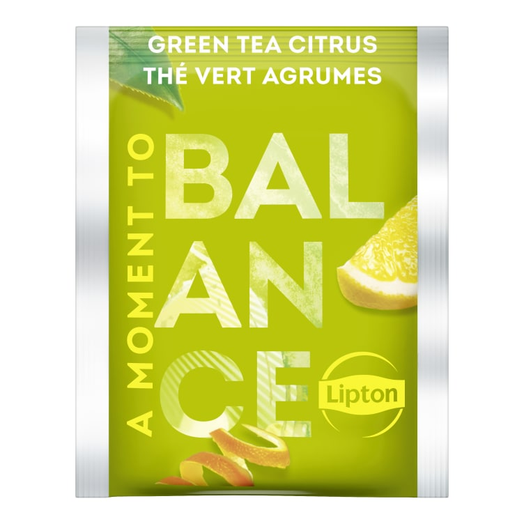 Bilde nr. 2 av 2 - Green Citrus (grønn te sitrus) 25ps Lipton