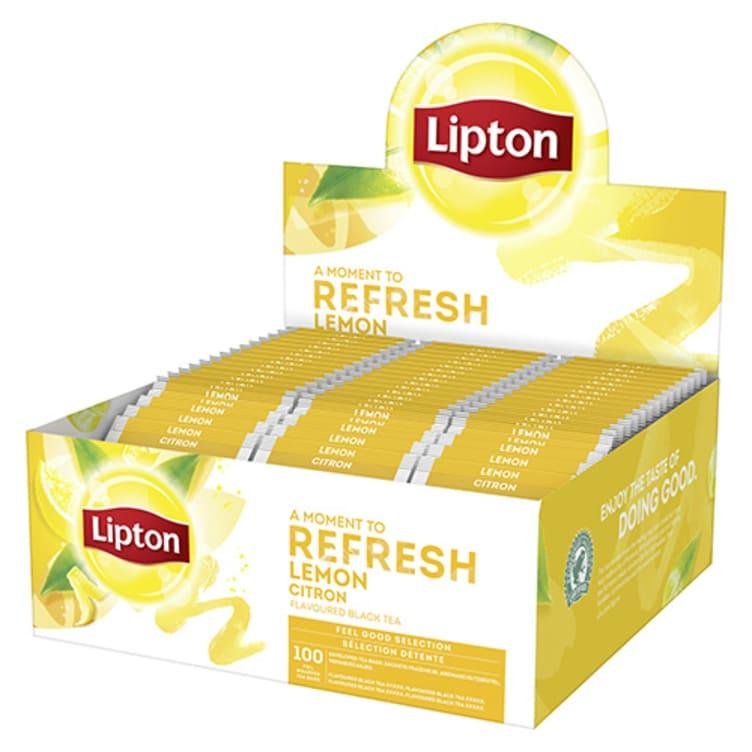 Bilde nr. 1 av 2 - Lemon (sitron) te 100ps Lipton