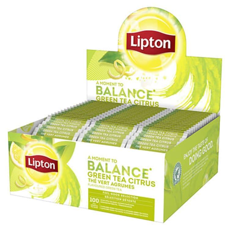 Bilde nr. 1 av 2 - Grønn te Sitrus 100ps Lipton